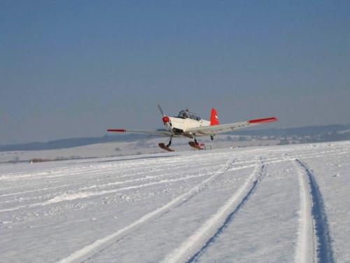 Letiště v zimě