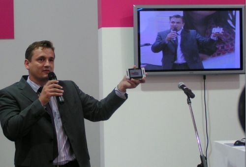 Ukázka DVB-H od Českých radiokomunikací/T-Mobilu na veletrhu Invex (Foto: Jiří Peterka)
