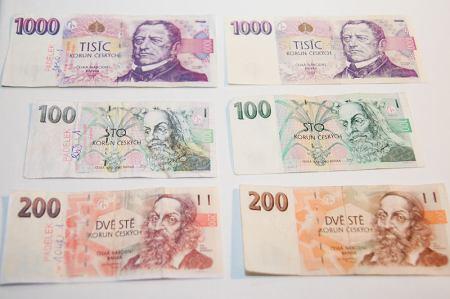 bankovka, koruny, padělek, padělky