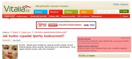 Vitalia.cz AdSense