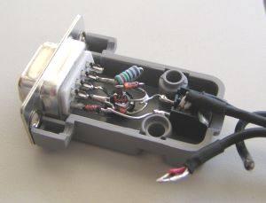 zadní část konektoru