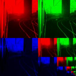 Obrázek 5: Ukázka interní reprezentace mipmapy uložené v texturovací paměti grafického akcelerátoru