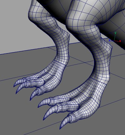 Detail modelu vytvořeného z parametrických ploch