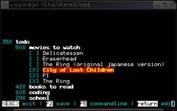 Screenshot outline editoru hnb