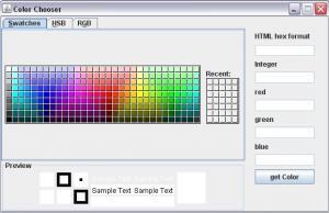 ColorChooser 1.0 - náhled