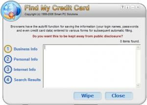 Find My Credit Card 2.3 - náhled