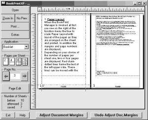 BookPrintXP 2.2.03 - náhled