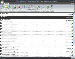 Static Outlook Backup 2.9e - náhled
