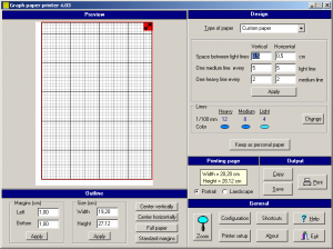 Graph Paper Printer 4.03 - náhled