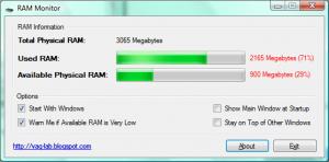 RAM Monitor 1.0 - náhled