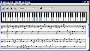 Midi Sheet Music 2.6 - náhled