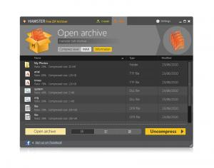 Hamster Free Zip Archiver 2.0.1.8 - náhled