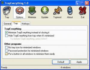 TrayEverything 1.2 - náhled