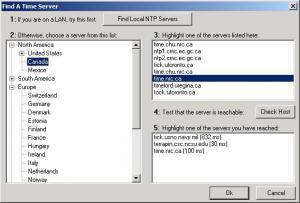 NetTime 2.0b7 - náhled