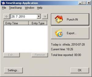 TimeStamp 1.30 - náhled