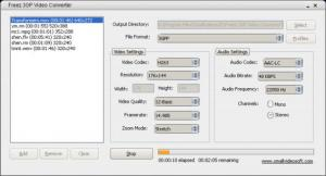 Freez 3GP Video Converter 2.0 - náhled