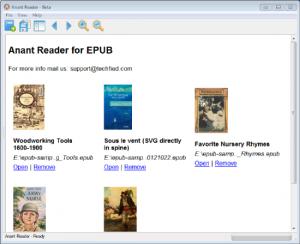 Anant Reader 0.8.7 beta - náhled