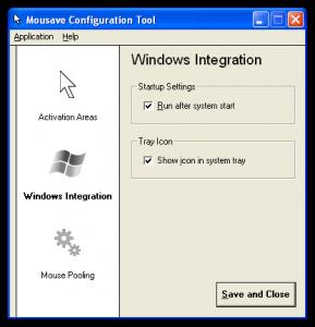 Nastavení integrace do Windows - náhled
