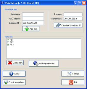 WakeUpPC 1.00 - náhled
