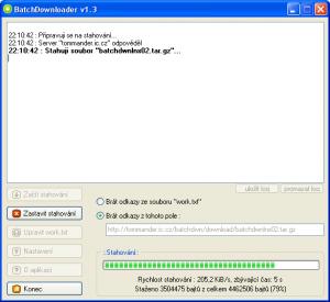 BatchDownloader 1.4 - náhled