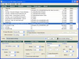Pazera Free PSP Video Converter 1.1 - náhled