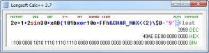Longsoft Calc++ 2.7 - náhled