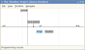 Timeline 0.15.0 - náhled