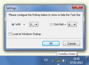 TaskBar Hider 1.2 - náhled