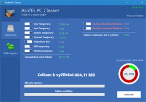 Asoftis PC Cleaner - náhled