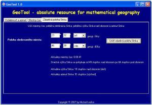 GeoTool - náhled