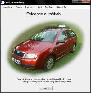 Evidence autoškoly 3.2 - náhled
