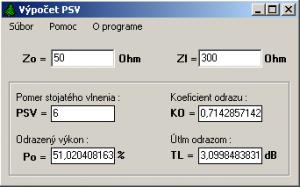 Výpočet PSV 1.0 - náhled