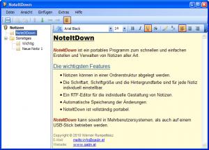 NoteItDown 1.3 - náhled