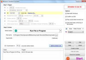 Windows Shutdown Assistant 3.0.1 - náhled