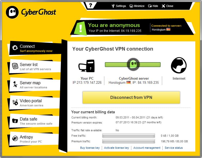 cyberghost vpn license key