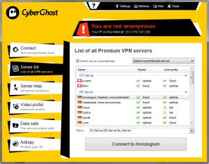 CyberGhost VPN 6.0.4.2205 - náhled