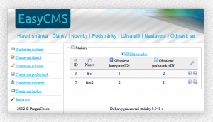 EasyCMS 2.0 RC1 - náhled
