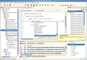 MonoDevelop 3.0.5 - náhled