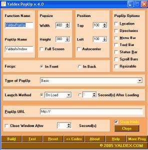 Free PopUp Maker 5.2 - náhled