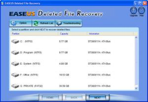 EASEUS Deleted File Recovery 5.6.1 - náhled