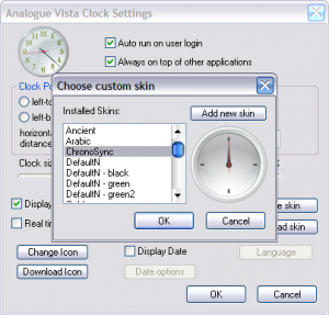 Analogue Vista Clock 1.11 - náhled