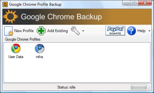 Google Chrome Backup 1.8.0.141 - náhled