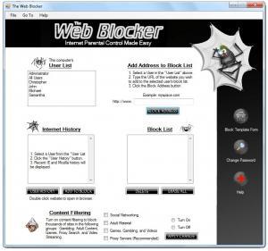 The Web Blocker 2.0 - náhled