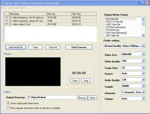 Agree All Video Converter Platinum 5.0 - náhled