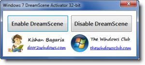 Windows 7 DreamScene Activator 1.1 - náhled