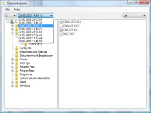 ShadowExplorer 0.8 - náhled