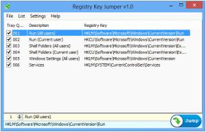 Registry Key Jumper 1.0 - náhled