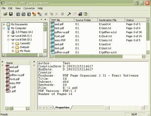 Foxit PDF2TXT 1.1 - náhled