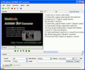 Winxmedia AVI/WMV 3GP Converter 5.0.1 - náhled