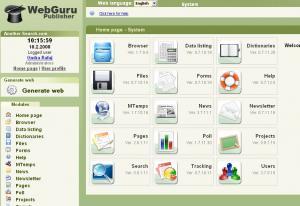 WebGuru Publisher 1.3.2 - náhled